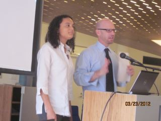 Metzl and Hansen address the conference